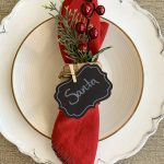 DIY Christmas Napkin Ring with Pine and Berries