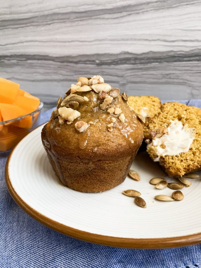Butternut Squash Muffins with Cream Cheese Filling
