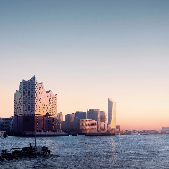 Elbphilharmonie und Elbtower bilden die Hafencity in Hamburg