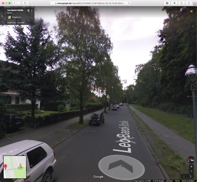 Leo-Baeck-Straße in Berlin auf Google Maps