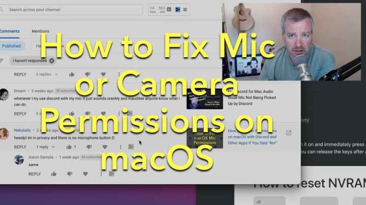 How to Fix camera or mic permissions on macOS