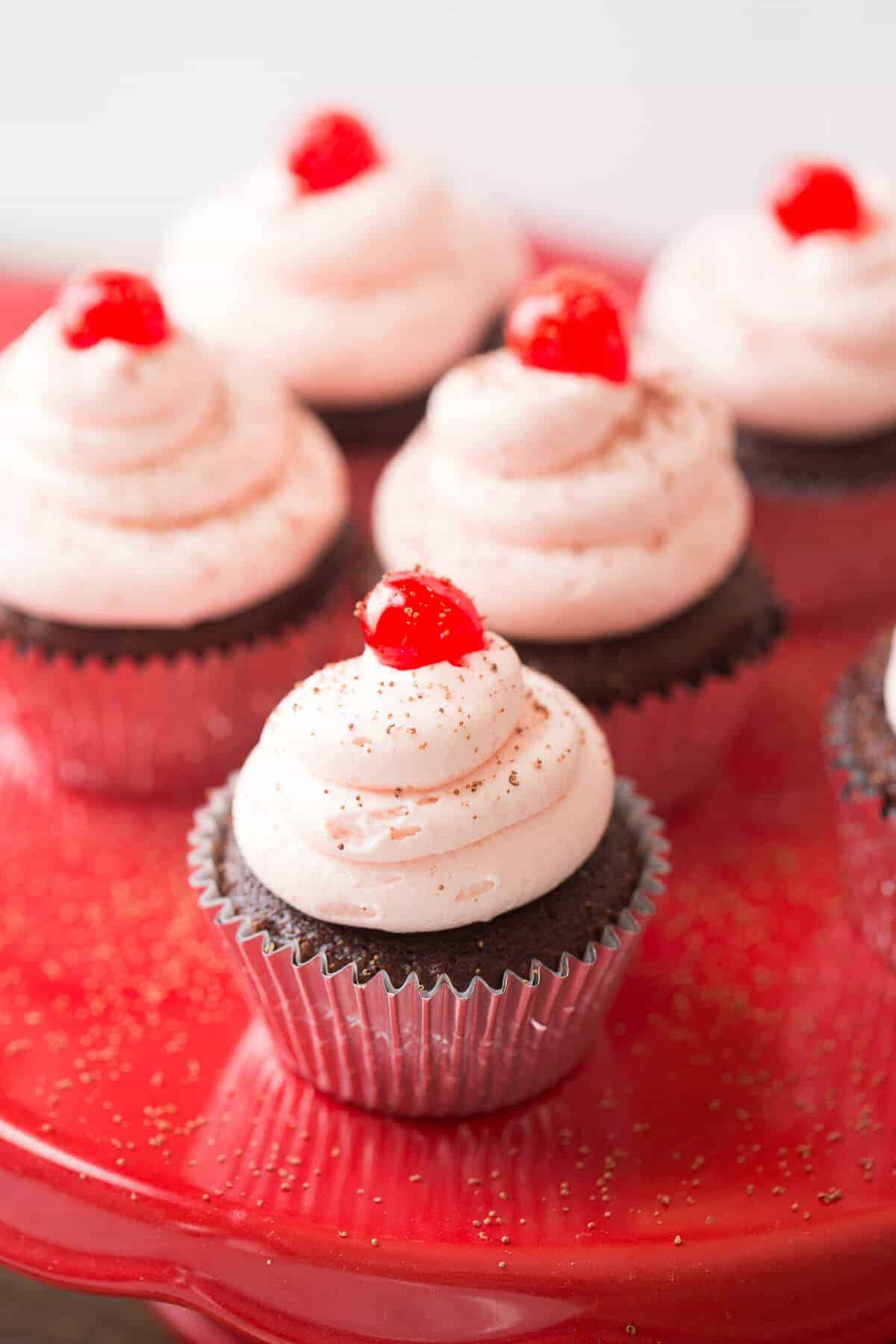 Cherry Coke and chocolate makes dynamic duo in these fun to make and eat chocolate cupcakes!