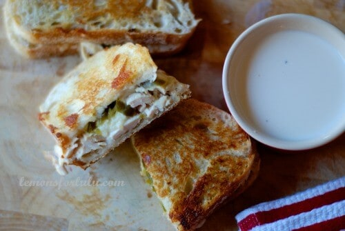 Jalapeno Chicken Grilled Cheese with White BBQ Sauce
