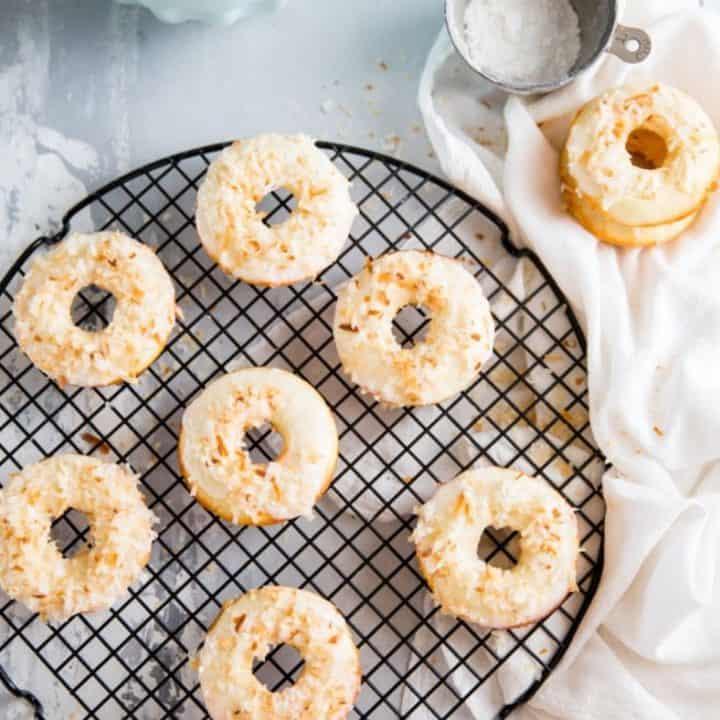 Toasted Coconut Baked Donut Recipe
