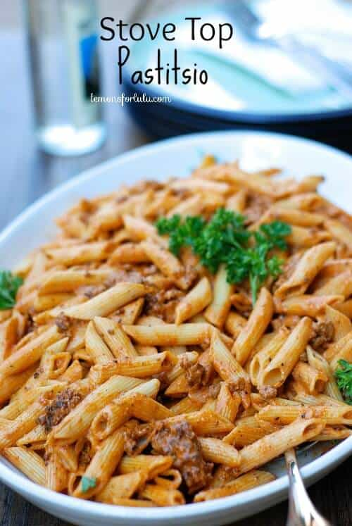 Simple and light Stove Top Pastitsio