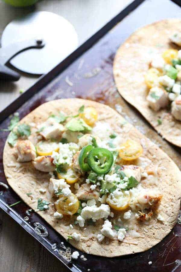 Tequila Lime Chicken Pizza {Lemons for Lulu}