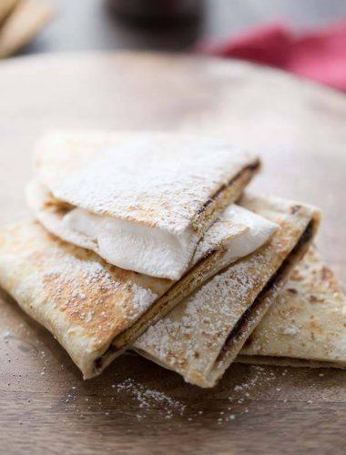 A S'mores recipe turned quesadilla! Fun required but camfire optional! lemonsforlulu.com