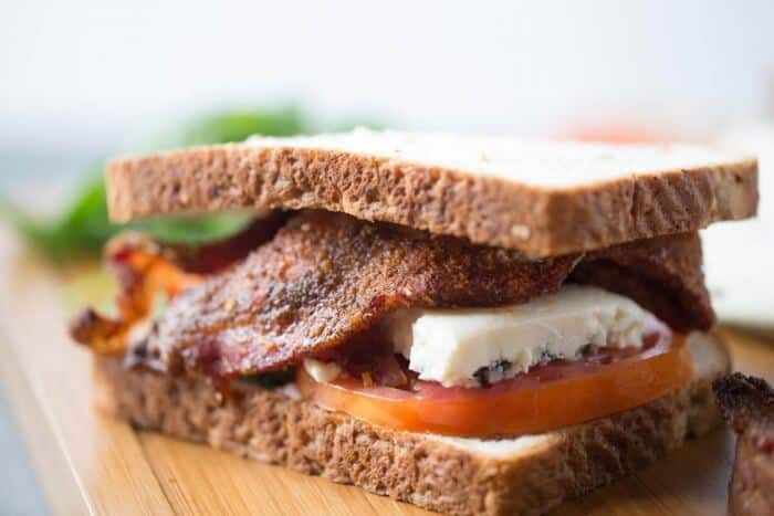 This is the ultimate BLT sandwich! It has bbq bacon and creamy blue cheese; a unique spin on a favorite sandwich! lemonsforlulu.com