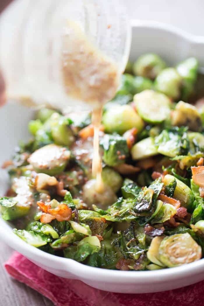 Brussels sprouts and bacon; always a winner! lemonsforlulu.com