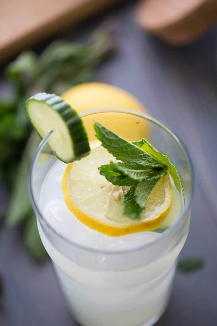 A simple and utterly refreshing cucumber mint cooler recipe!