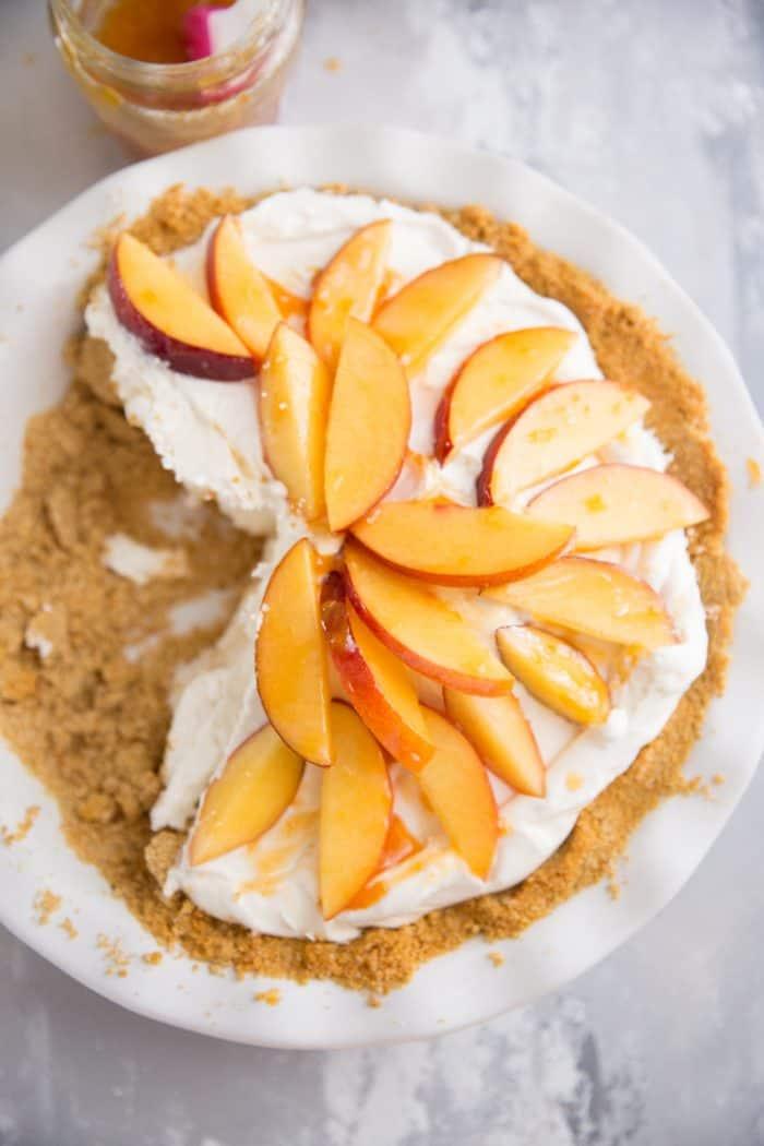Half peach pie