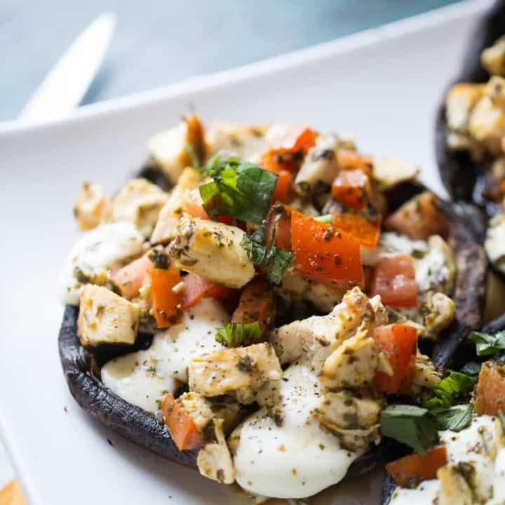 Caprese Chicken Portobello Mushrooms
