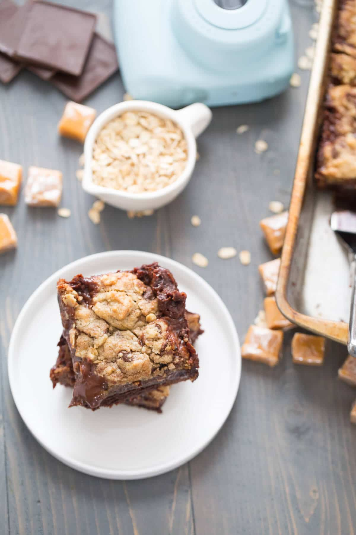 Brookie bars are so easy and delicious, but when you add a caramel filling, they become amazing!