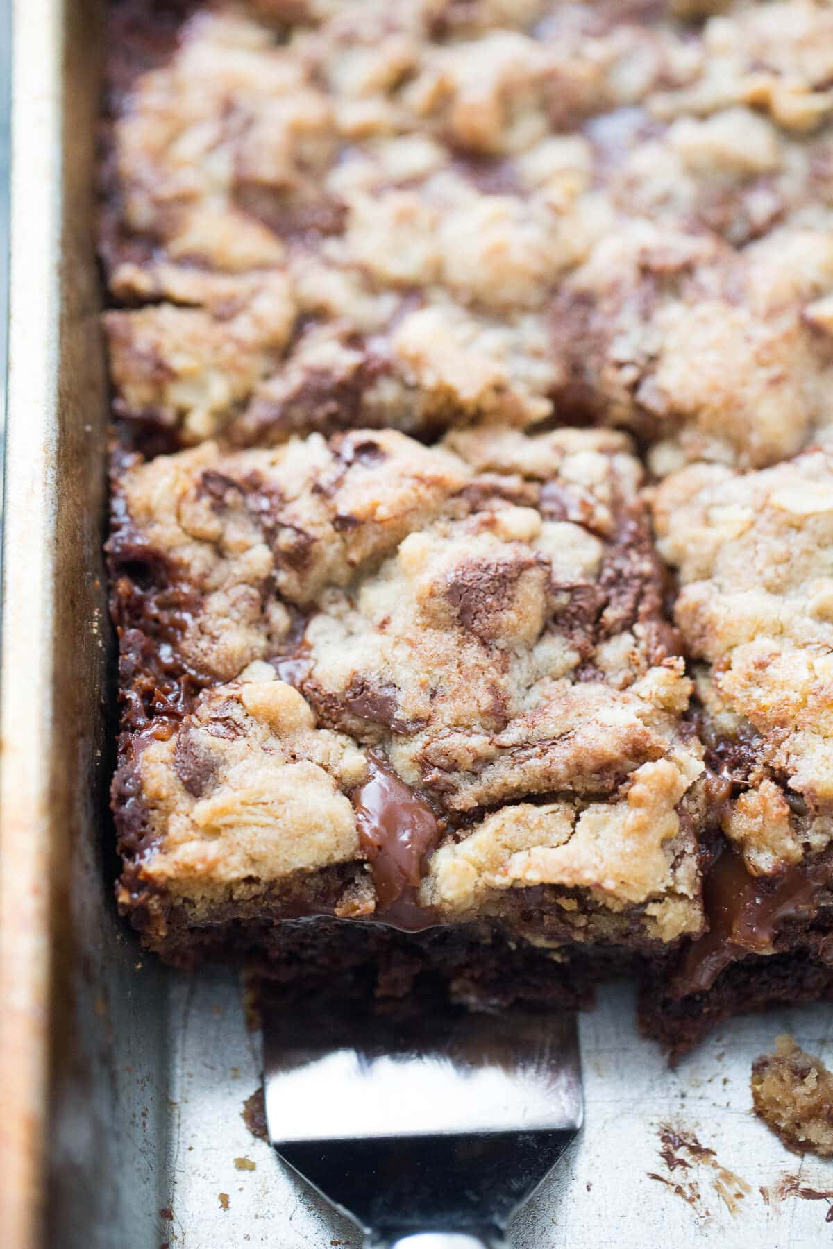 Brookie bars have a little bit of everything; brownies, cookies and creamy caramel!