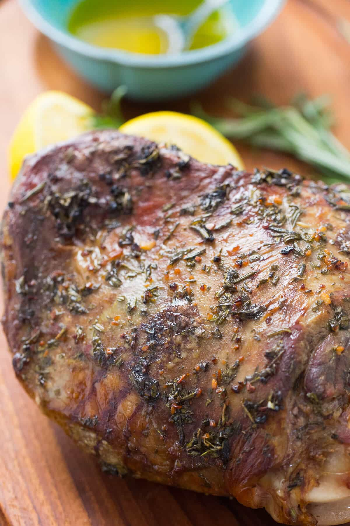 A lamb roast is quite easy to prepare as long you season it well. Serve this lamb with lemon and olive oil for authentic Greek flavor!