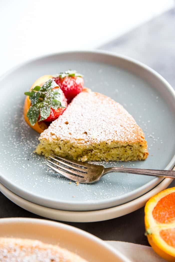 Almond flour cake slice