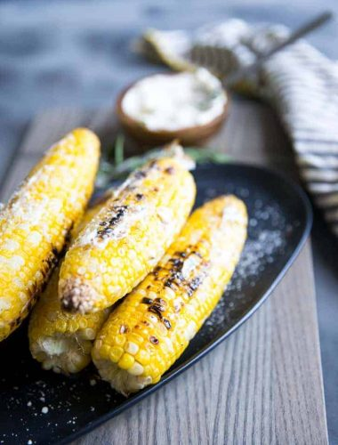 grilled corn with herbs