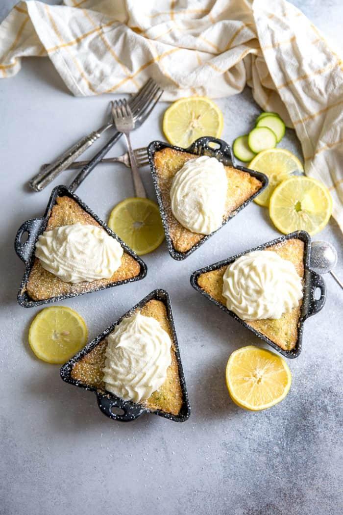 Zucchini cake 4 cakes