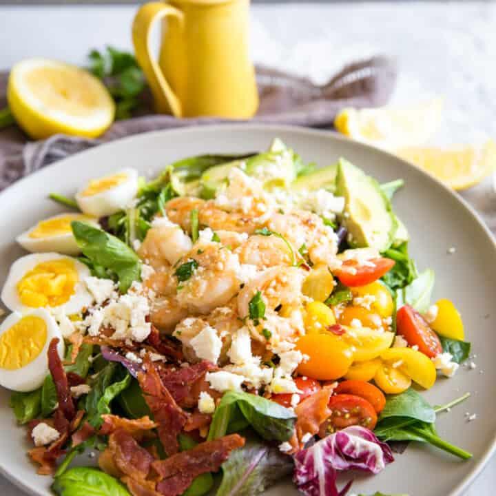 Garlic Shrimp Cobb Salad