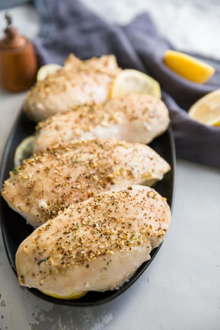 seasoned baked chicken breasts