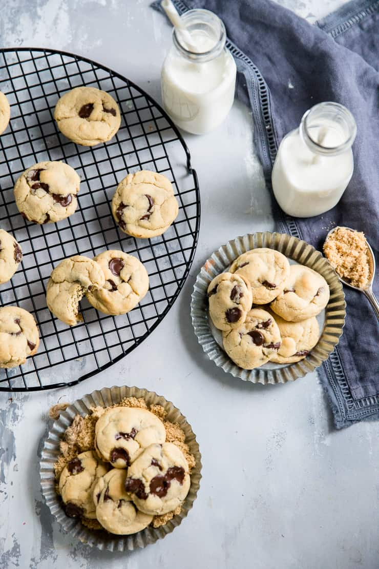 brown sugar cookies on plates and baking rack