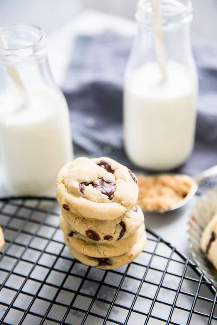 stacked brown sugar cookies
