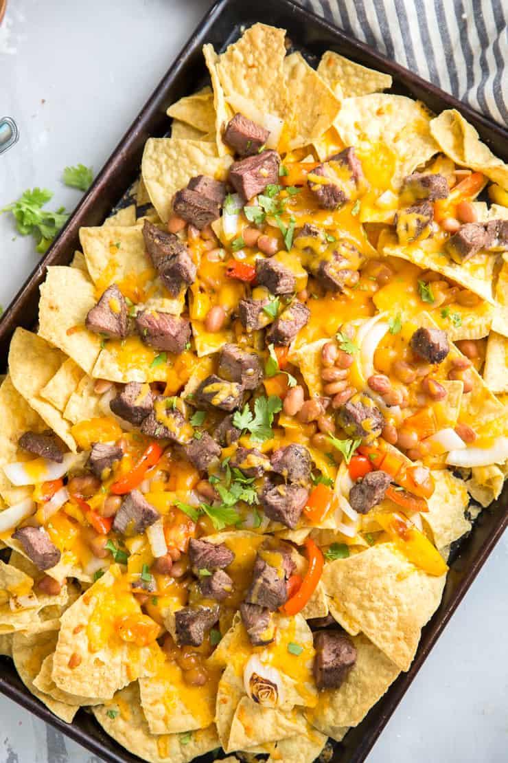 cheesy steak nachos
