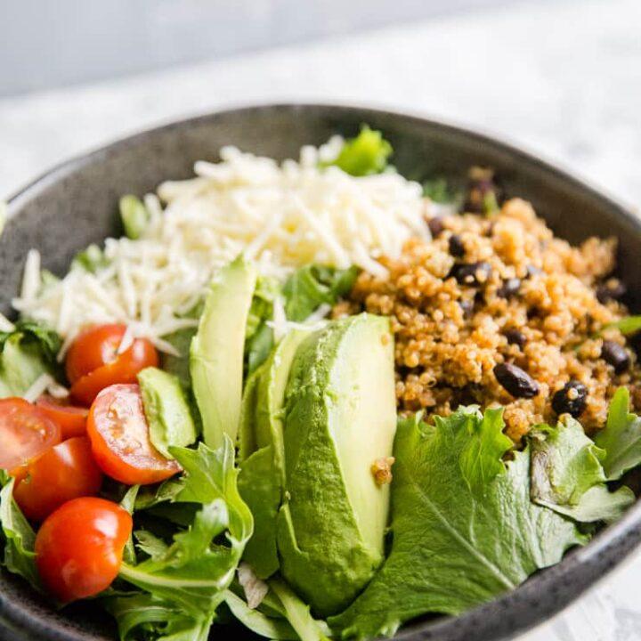 quinoa bowl with avocados