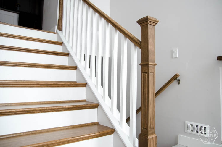 How To Install A Wooden Handrail On Split Level Stairs Lemon Thistle | Wall Mounted Handrails Wood | Stair Handrail Bracket | Capozzoli Stairworks | Stair Parts | Wood Staircase Handrail | Wrought Iron