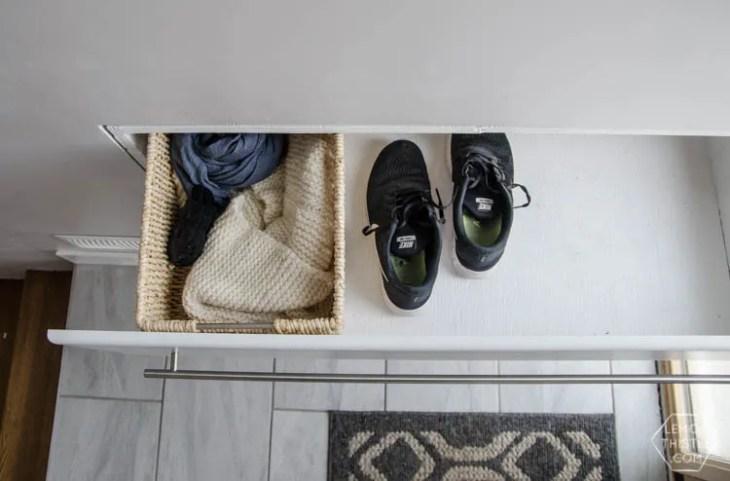 built in shoe storage