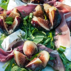 Fresh Mozzarella cheese, Figs, and Prosciutto Salad recipe