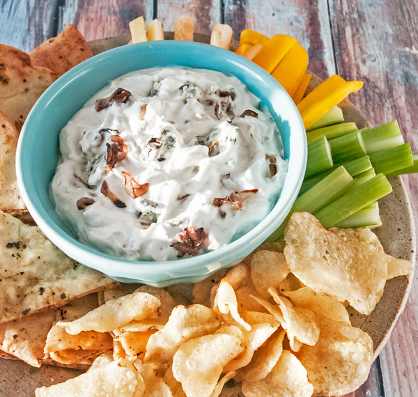 Blue Cheese Dip with Caramelized Shallots Recipe