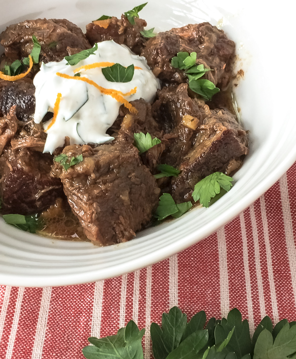 Beef Stew with Horseradish Sauce
