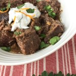 Beef Stew with Horseradish Sauce recipe