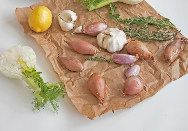 Oven Baked Chicken with Shallots and Fennel
