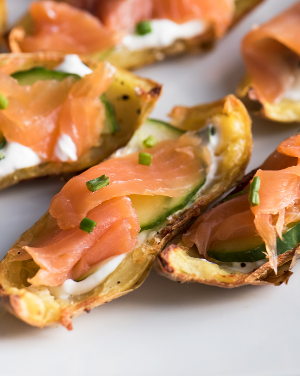 Taste of Ireland: Crispy Potato Skins with Smoked Irish Salmon recipe