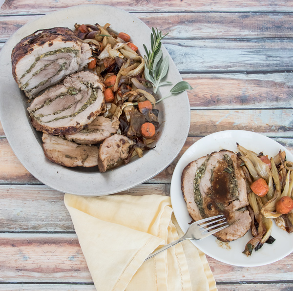 Roast Pork with Lemon and Herbs recipe