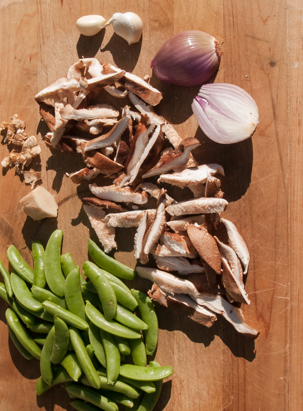 Sugar Snap Peas with Shiitake Mushrooms Recipe