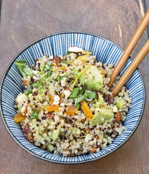 Quinoa Salad with Avocado and Dried Fruit Recipe