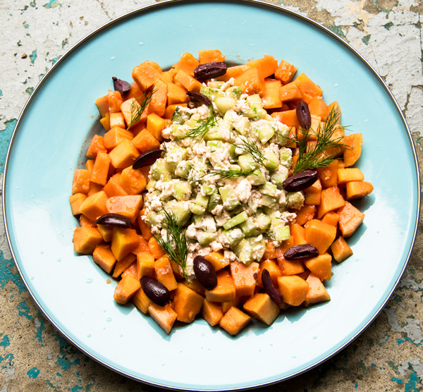 Here Comes the Sun: Papaya, Cucumber and Feta Salad