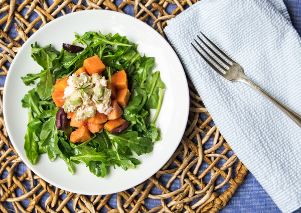 Sunshine salad with papaya, cucumber and feta recipe