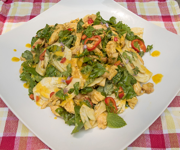 Grilled Chicken Salad with Orange Saffron reicpe