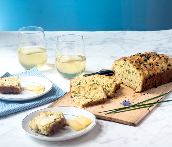 Cheese and Chive Herb Bread