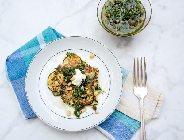 Zucchini Fritter 4 Ways recipe.