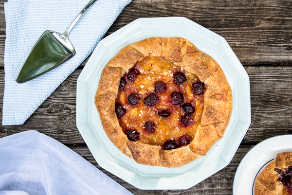 Almond Cherry Peach Galette