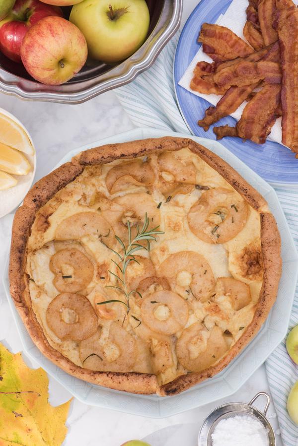Smoky-Maple Apple Dutch Baby Pancake Recipe