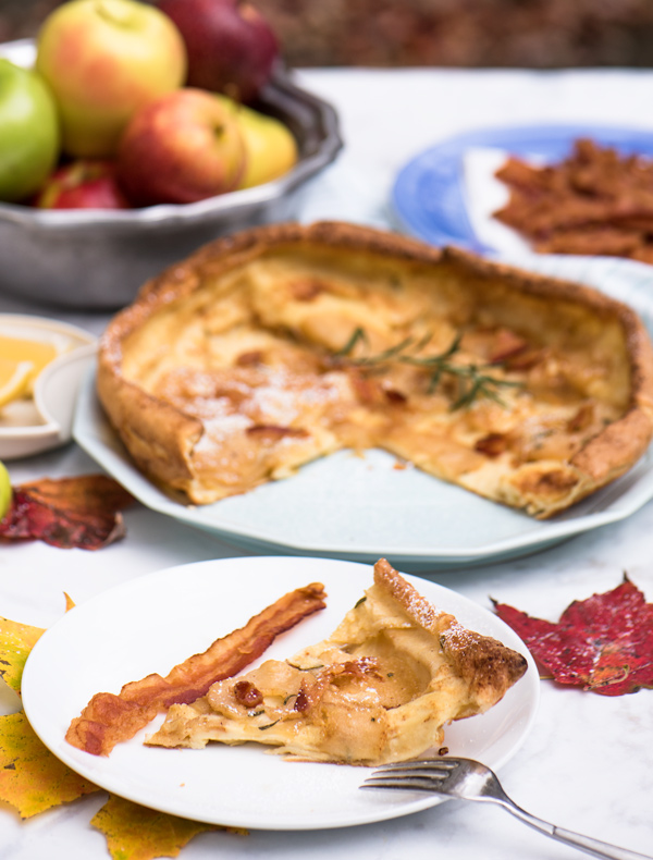Smoky-Maple Apple Dutch Baby Pancake reicpe.