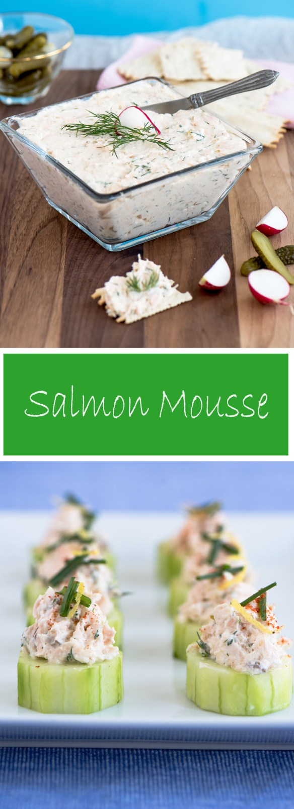 Airy Salmon Mousse recipe. A delicious classic appetizer for a special occasion.