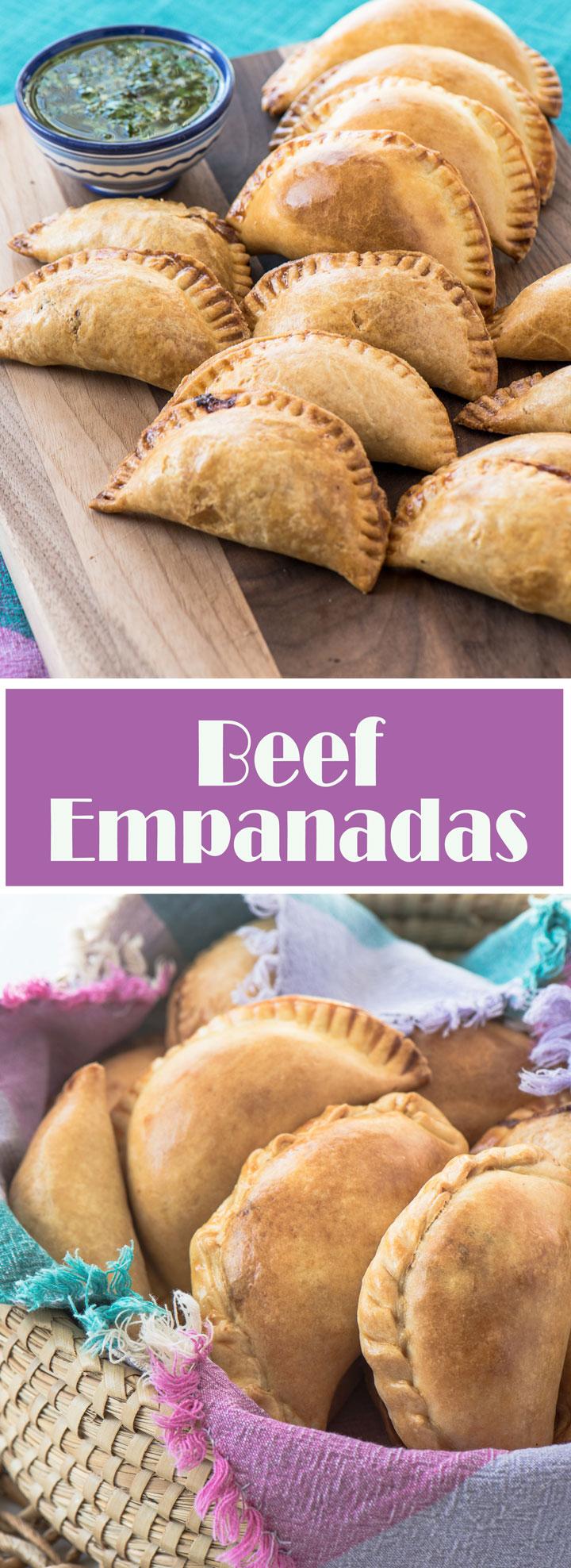 Sweet and Savory Beef Empanadas.