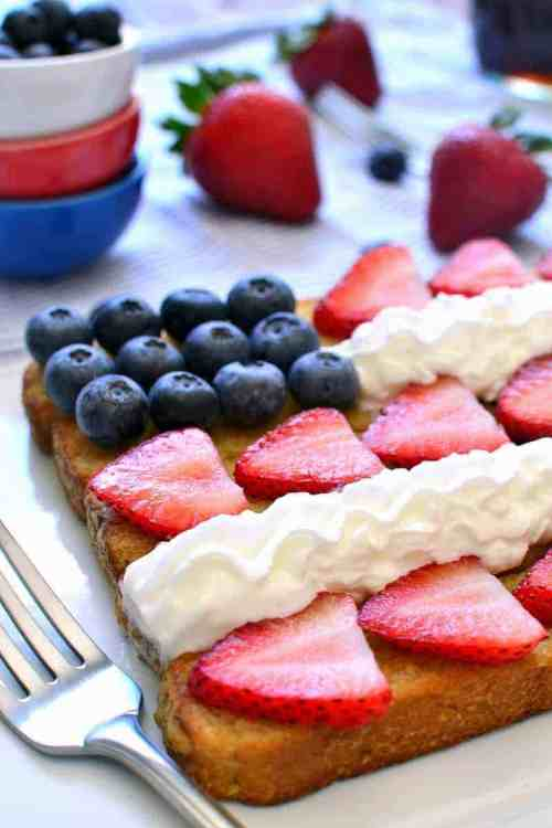Red, White & Blue Patriotic French Toast Sticks red white and blue foods